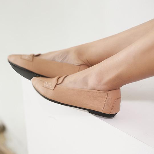 全真皮尖頭氣質摺疊鞋400231,全真皮,羊皮,尖頭鞋,摺疊鞋