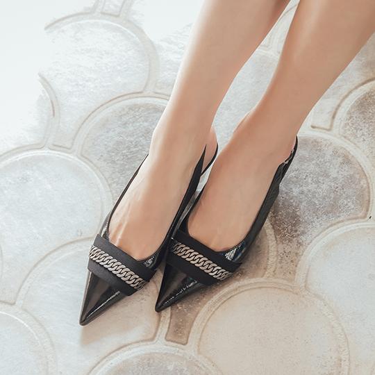 全真皮時尚幻彩尖頭低跟涼鞋100367 新品上市|NEW! 初秋精選|ALL 全部商品|涼鞋|涼鞋全系列|高跟鞋|低跟鞋5.5cm以下