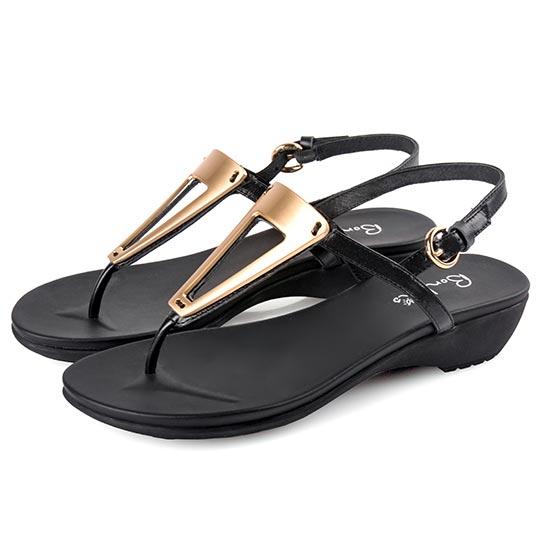 真牛皮三角金屬涼鞋100264 ALL 全部商品 涼鞋 涼鞋全系列 楔型涼鞋/高跟涼鞋 現貨專區 快速出貨 現貨平底/高跟涼鞋
