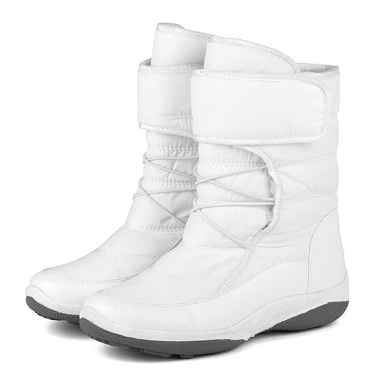 防潑水羽絨布魔鬼氈太空靴 / 雪靴 300155 - 純淨白, 41 ALL 全部商品|本館必買|大尺碼女鞋|靴子|中筒靴/中靴|雪靴
